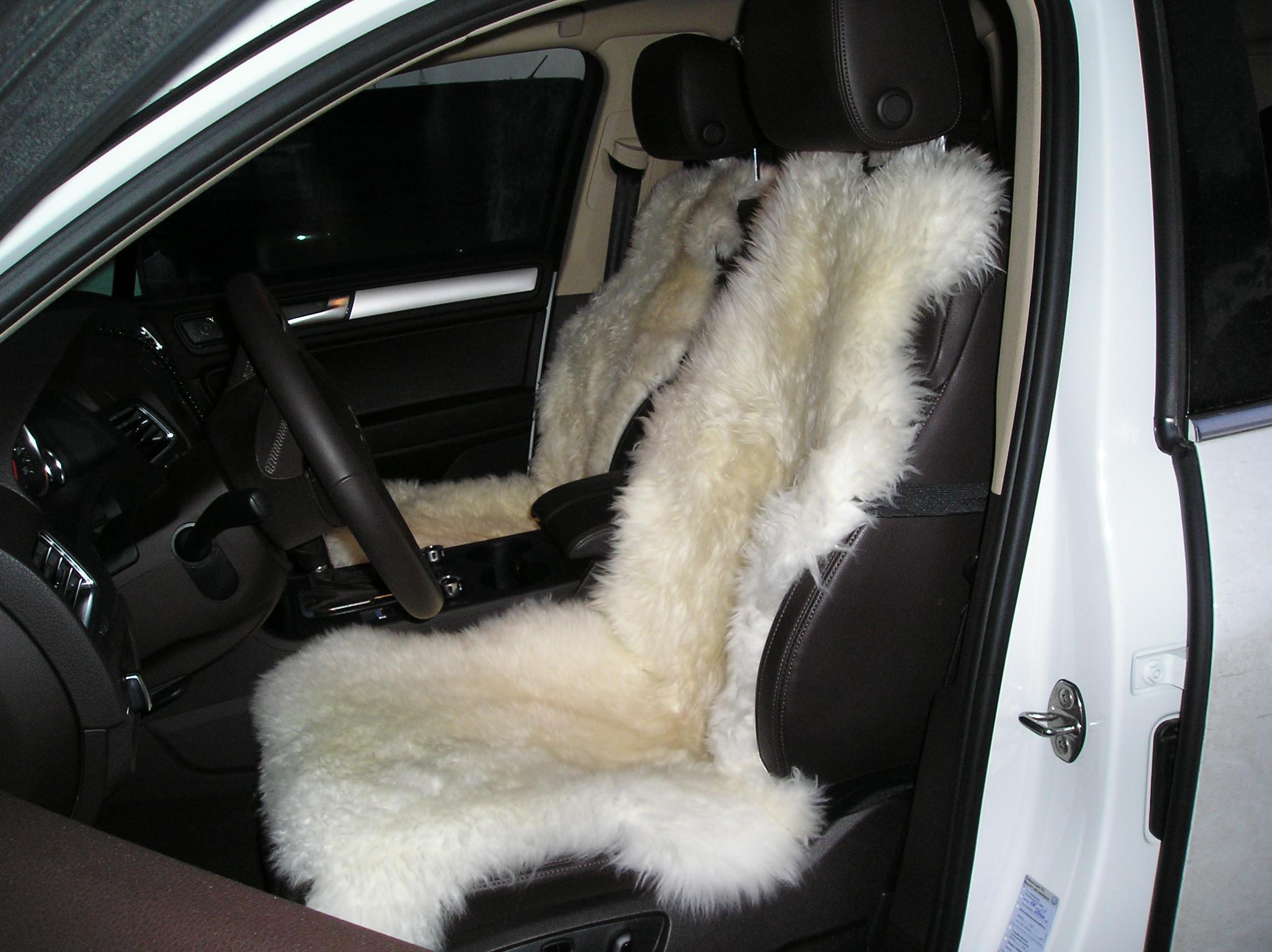 Накидка на сиденье водителч из натурального меха